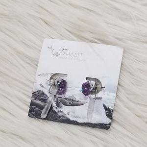 Wild habit amythyst crystal earrings